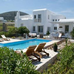 location villa Paros piscine