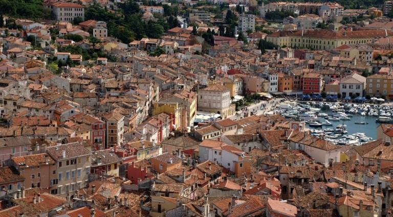 Vue ville d'Istrie